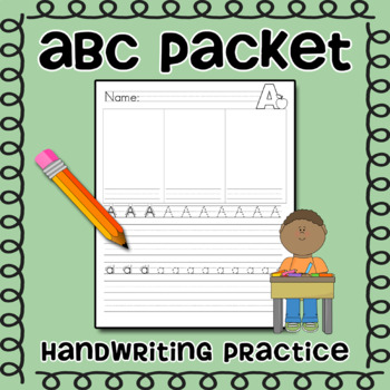 ABC Packet -- Alphabet Writing Packet for Handwriting practice TpT - practice alphabet writing