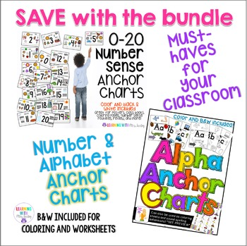 ANCHOR CHARTS - ALPHABET + NUMBERS {phonics + number sense} by Mrs Leeby
