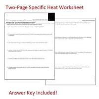 Calorimetry Worksheet. Worksheets. Ratchasima Printable ...