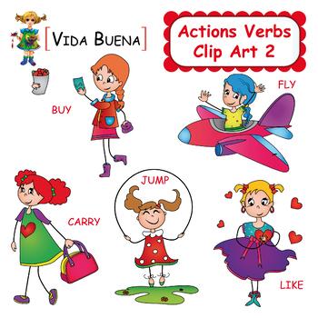 Action Verbs Clip Art 2 by VIDA BUENA Teachers Pay Teachers
