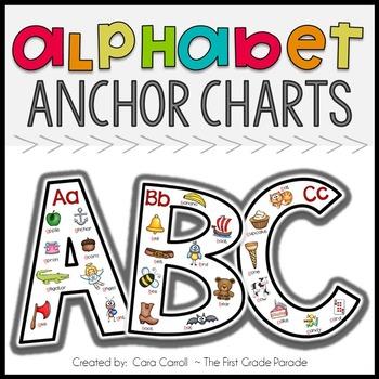 Alphabet Anchor Charts by Cara Carroll Teachers Pay Teachers - anchor charts
