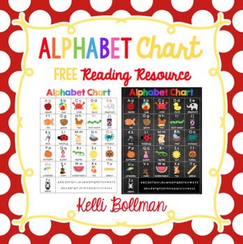 Alphabet Chart {FREE} by Kelli Bollman Teachers Pay Teachers - Free Chart