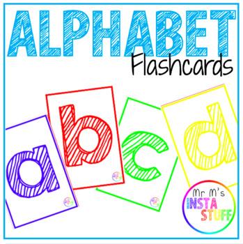 Alphabet Flashcards - Lowercase by MrM\u0027sInstaStuff TpT