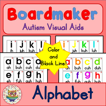 Alphabet Flashcards with Pronunciation - Boardmaker Visual Aids for