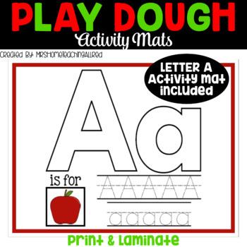 Alphabet Play Dough Mats For Pre-K and Kinder / Printable Playdough Mats