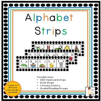 Desk Alphabet Strip Teaching Resources Teachers Pay Teachers