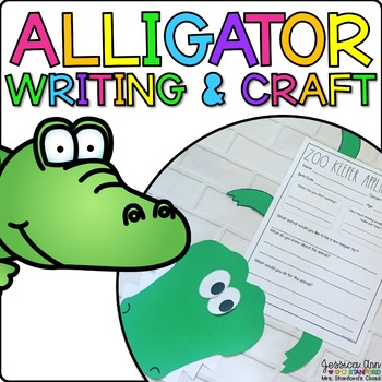 Alligator Animal Craft and Writing Prompts by Jessica Ann Stanford