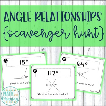 Angle Relationships Scavenger Hunt Teaching Resources Teachers Pay