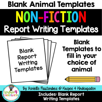 Animal Reports- Informational Non-Fiction Report Writing (BLANK