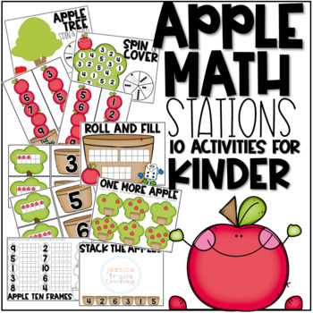 Roll The Dice Math Kindergarten Apple Theme Teaching Resources