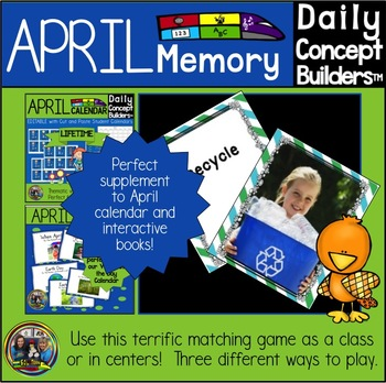April Word of the Day Memory Game by SOL Train Learning TpT