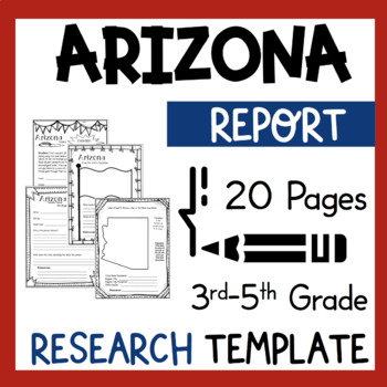 Arizona State Research Report Project Template with bonus timeline