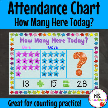 Attendance Chart Worksheets  Teaching Resources TpT