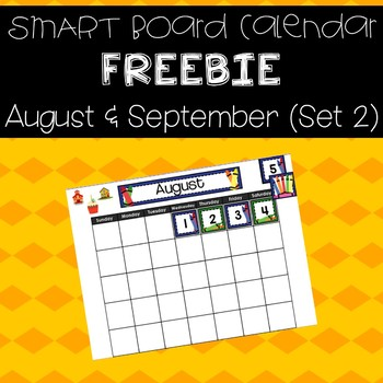 Aug  Sept Calendar for SMART Board - Crayon Theme by Plugged Into Pre-K