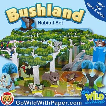 Australian Animal Craft Eucalyptus Forest / Bushland Animal Habitat