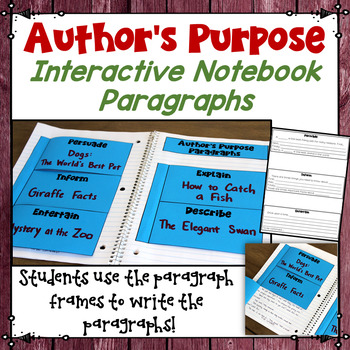 Writing Paragraph Frames Teaching Resources Teachers Pay Teachers