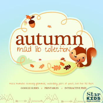 Autumn Mad Lib Collection **BUNDLE** by StarKids Store TpT