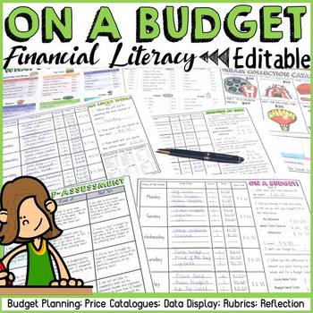 budgeting financial planning and graphing financial literacy(editable)