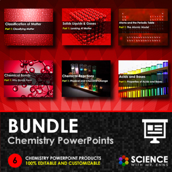 BUNDLE - Chemistry PowerPoints by Science With Mr Enns TpT