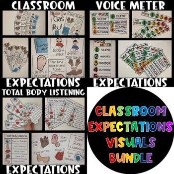 BUNDLE Classroom Expectations Visuals by Hello Intervention TpT