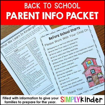 Meet the Teacher - Back To School - Letters to Parents by Simply Kinder - letters to the parents
