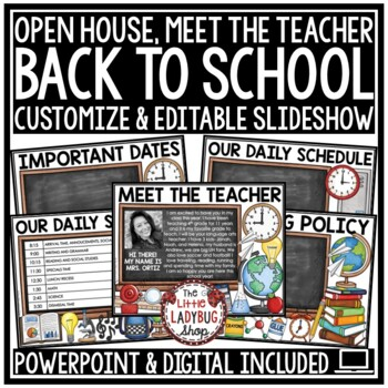 Back To School PowerPoint Open House and Meet The Teacher Template - open house powerpoint template