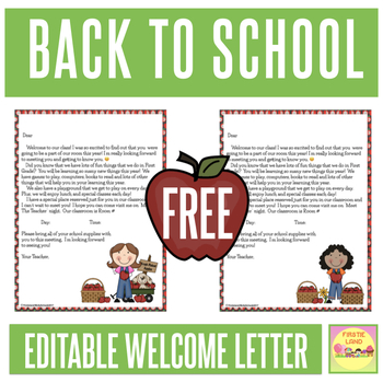 Welcome Letter Template Teaching Resources Teachers Pay Teachers - teacher welcome back letter