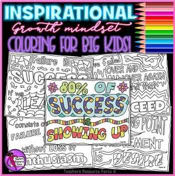 First Day of School Activities Growth Mindset Coloring Pages quotes
