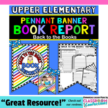 Back to School Activity Book Report Template \