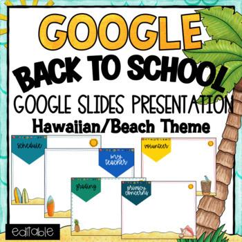 Open House- Powerpoint Template- Editable - Hawaiian/Luau Theme by