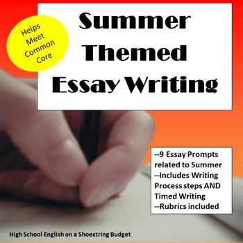 Summer Themed Essay Writing, w Rubrics  Printables by msdickson