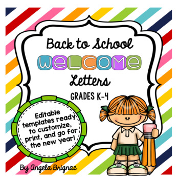 Back to School Welcome Letter Template (FREE for a limited time!)