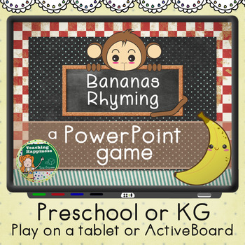 Bananas Rhyming Game PowerPoint ActiveBoards Tablets TpT