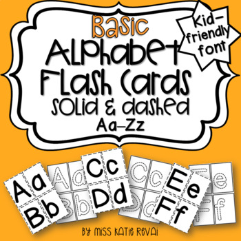 Basic Alphabet Letter Flash Cards For traditional  online learning