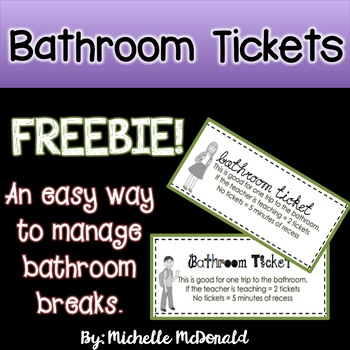 Bathroom Tickets Worksheets  Teaching Resources TpT