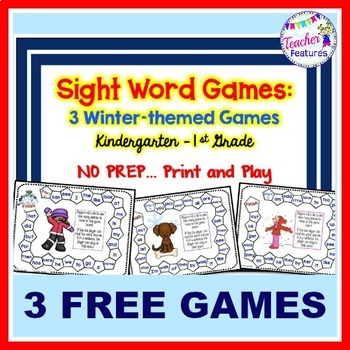 Winter-themed Sight Words Games by Teacher Features TpT