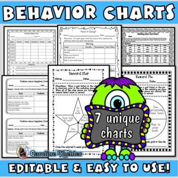 Adhd Behavior Charts Teaching Resources Teachers Pay Teachers