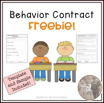 Behavior Contract Freebie! by Rae Wallace Teachers Pay Teachers