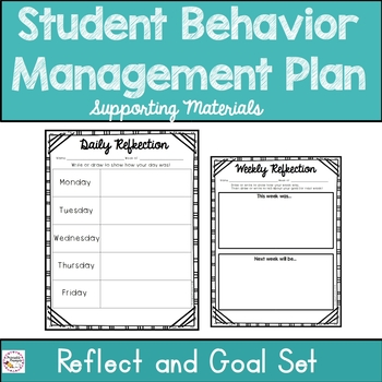 Behavior Management Plan Supporting Materials by PrintablePrompts