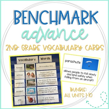Benchmark Advance 2nd Grade Vocabulary Word, Picture,  Definition