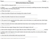 Bill Nye Erosion Video Worksheet by Mayberry in Montana | TpT