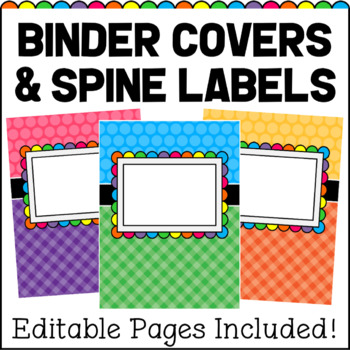 Editable Binder Covers And Spines Teaching Resources Teachers Pay - printable binder spine labels