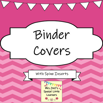 Binder Covers and Folder Spine Inserts ~ Chevron Designs ~ Editable