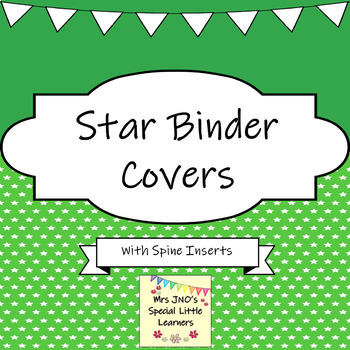 Binder Covers and Folder Spine Inserts ~ Stars Designs ~ Editable by