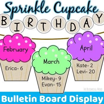 Cupcake Birthday Banner Teaching Resources Teachers Pay Teachers