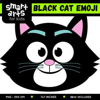 Black Cat Emoji Clip Art by Smart Arts For Kids TpT