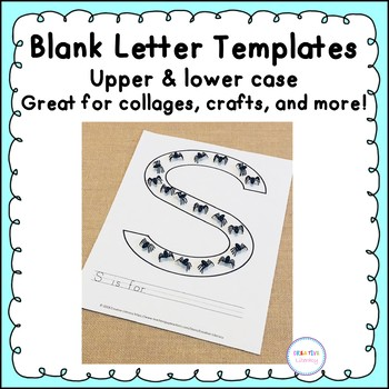 Blank Alphabet Letter Templates by Creative Literacy TpT