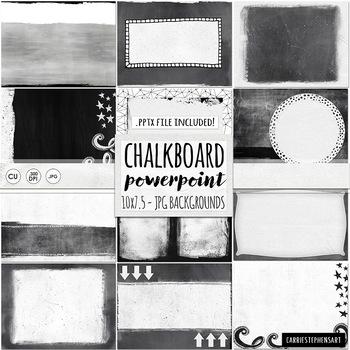 PowerPoint Background, Blank Chalkboard Powerpoint Template, Ready