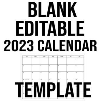 Blank/Editable 2019 Calendar Template - Google Slides TpT