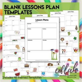 Lesson Plan Template Editable Preschool Teachers Pay Teachers